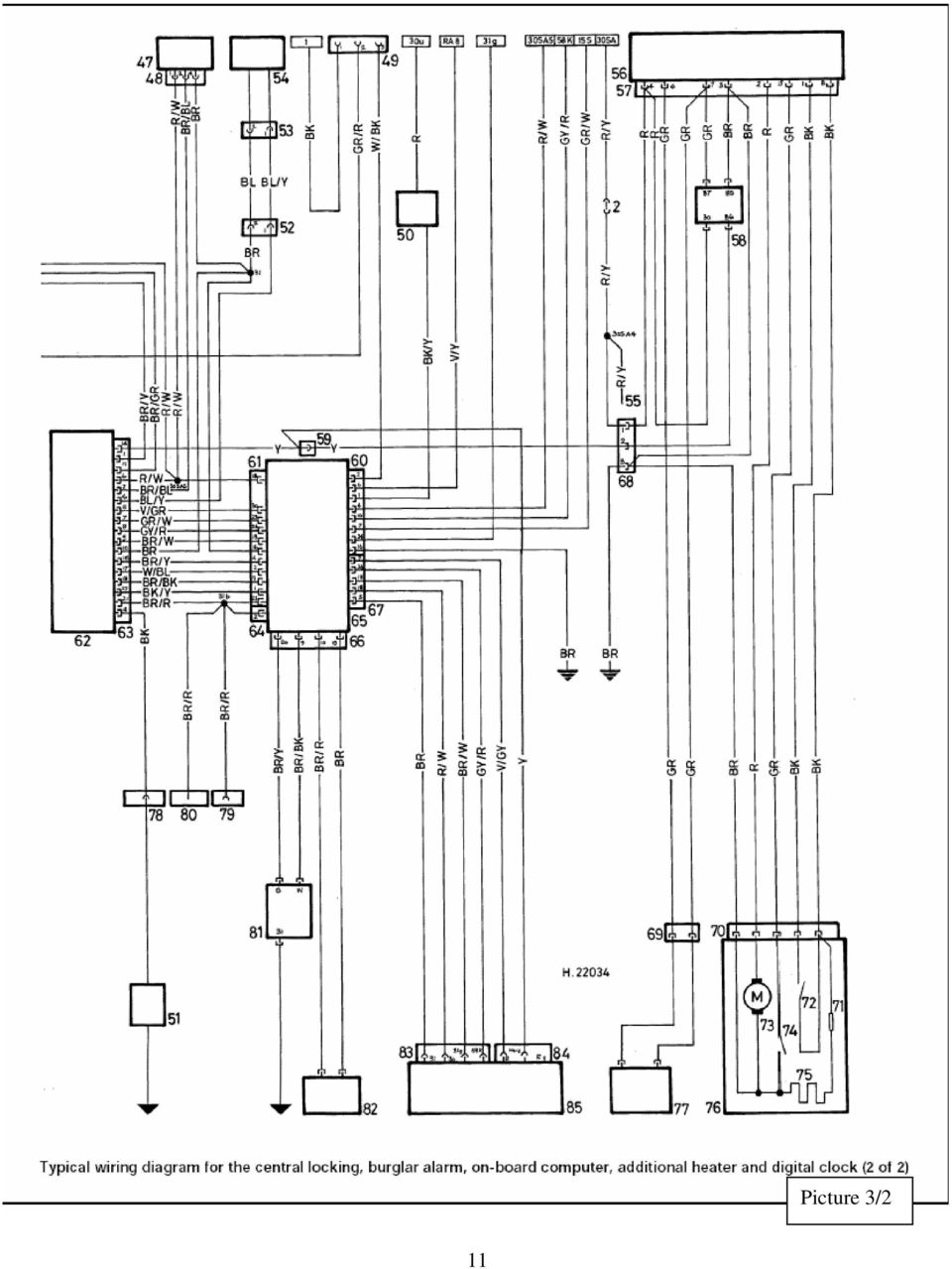 Colour Codes Diagrams Index Pdf 2003 3 8 Mitsubishi Plug Wire Diagram 12 Key To Wiring For The Central Locking Burglar Alarm On Board Computer Additional Heater End Digital Clock Picture 1 2 Rear