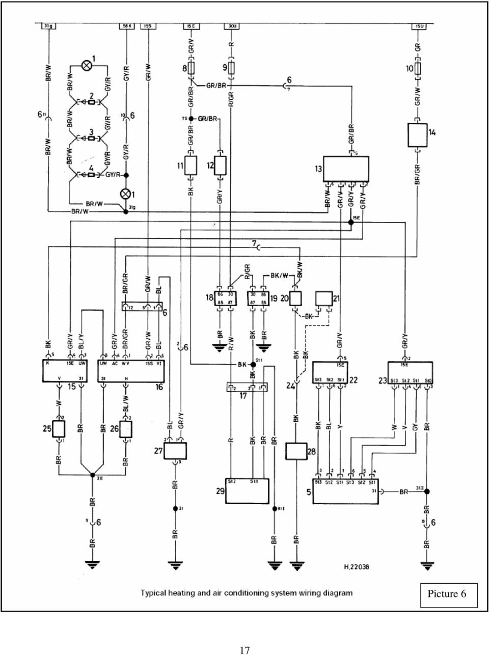 Colour Codes Diagrams Index Pdf 1992 Subaru Legacy Heater Wiring Schematic 18 Key To Air Conditioning System Diagram Picture 6 1 Light For Controls 2 Diode Iii 3 Ii 4 I 5