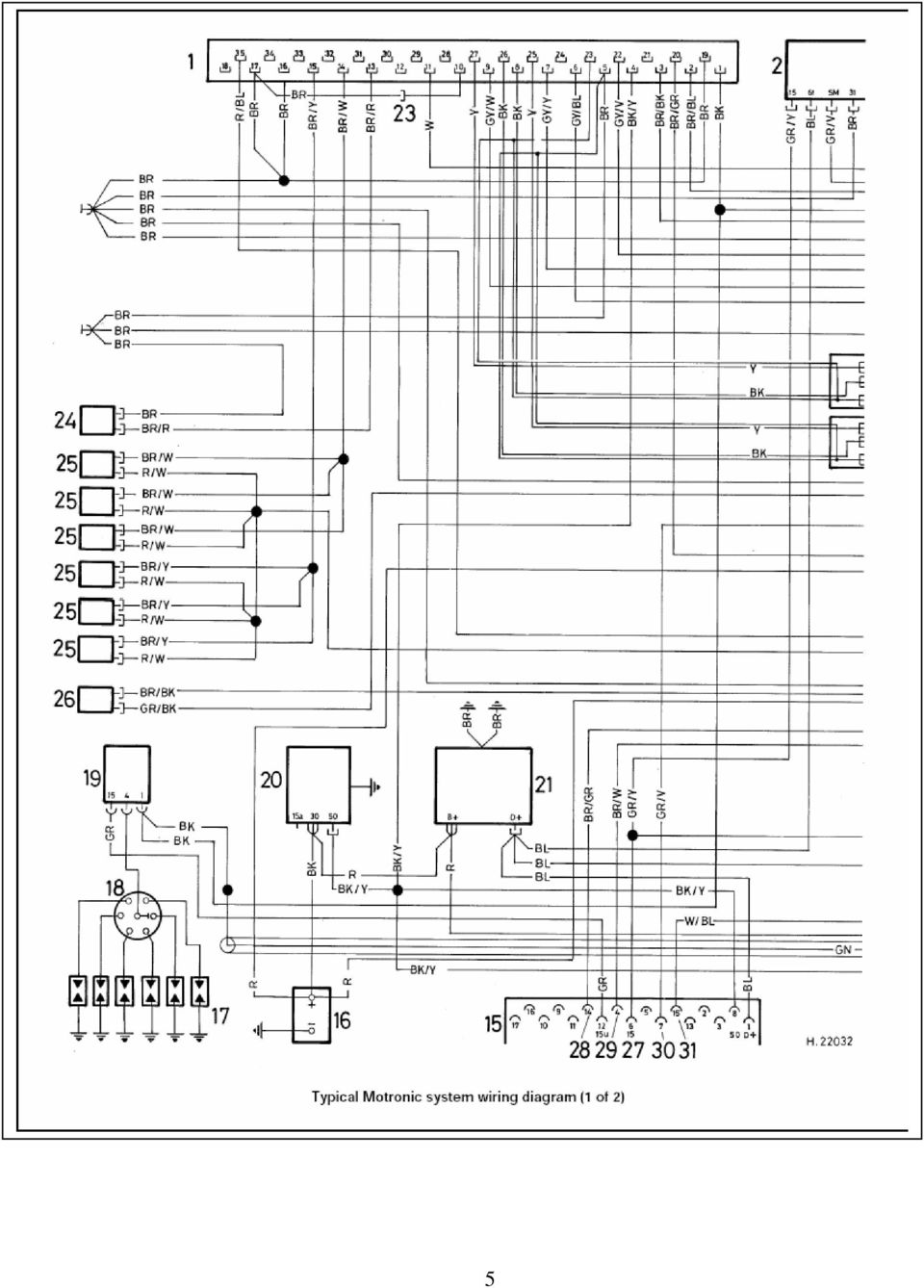 Colour Codes Diagrams Index Pdf 1997 Mazda 626 Cruise Control System Electrical Schematic 6 7 Key To Motronic Engine Wiring