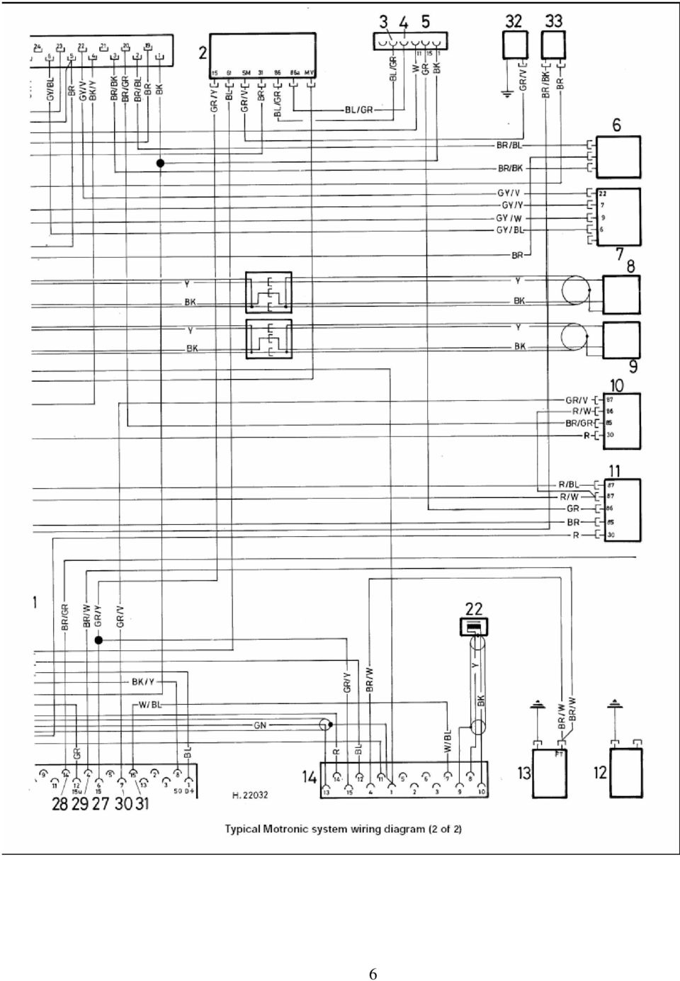 Colour Codes Diagrams Index Pdf Electronic Horn Schematic 7 Key To Motronic Engine Control System Wiring Diagram Picture 1 2 Unit Ecu 18 Distributor Speed Relay 19