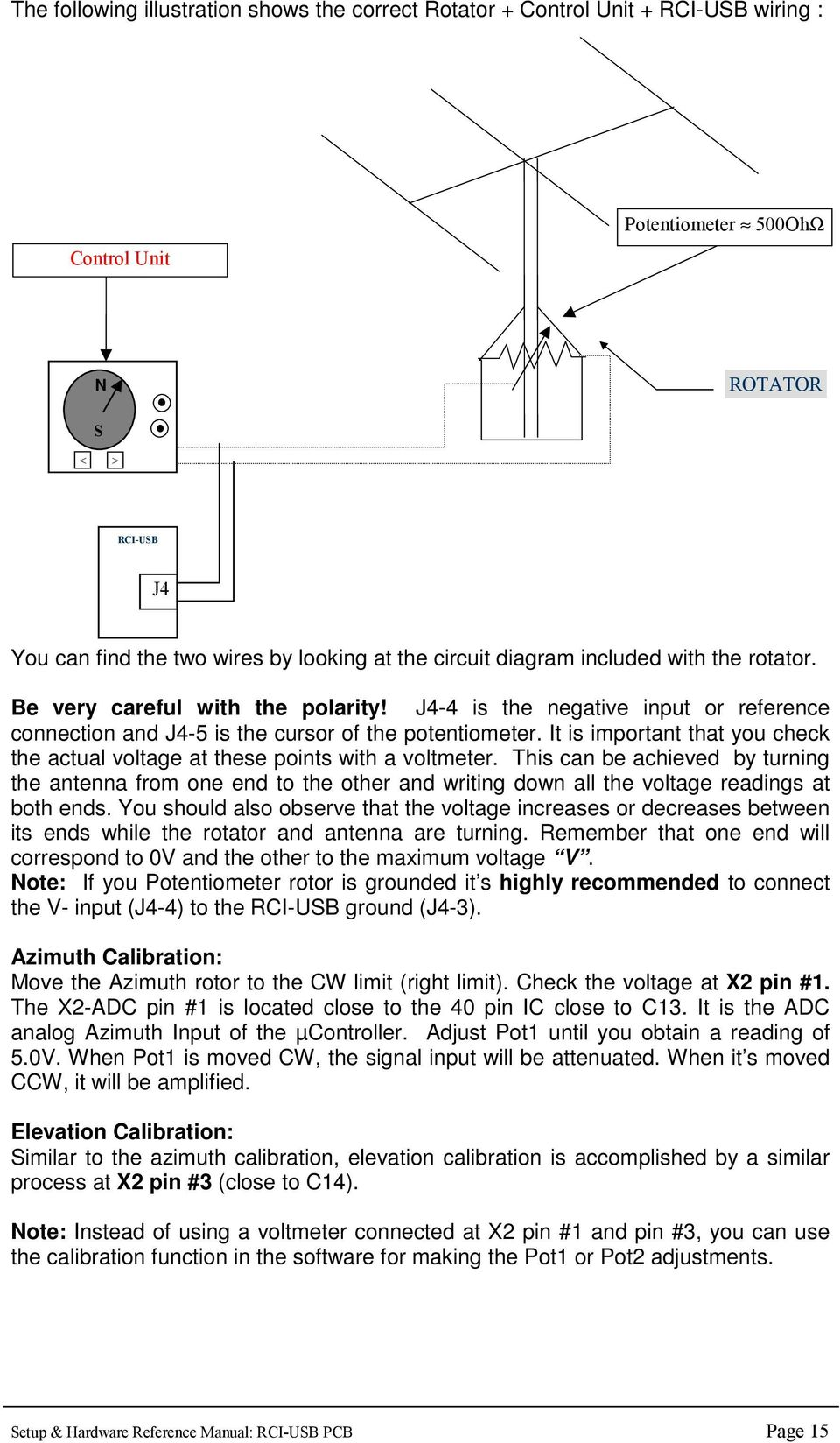 Antenna Rotator System Pdf Rotor Wiring Diagram It Is Important That You Check The Actual Voltage At These Points With A Voltmeter