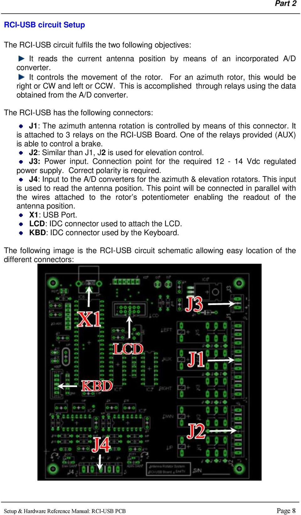 Antenna Rotator System Pdf Usb Schematic Symbol The Rci Has Following Connectors J1 Azimuth Rotation Is