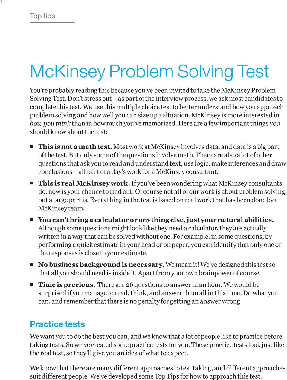 mckinsey approach to problem solving