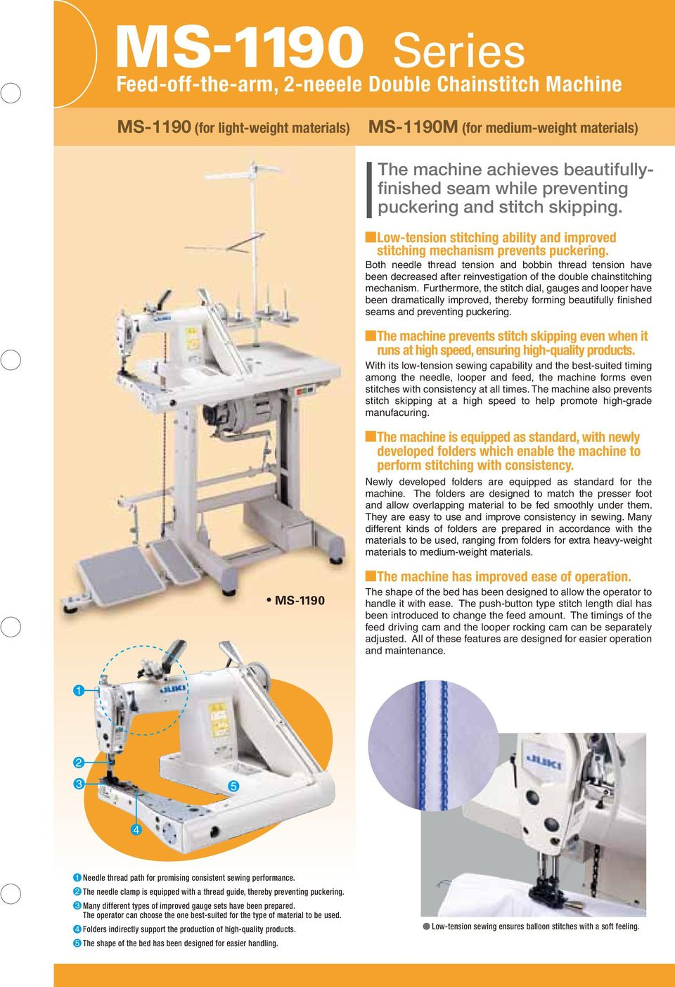 Both needle thread tension and bobbin thread tension have been decreased  after reinvestigation of the double