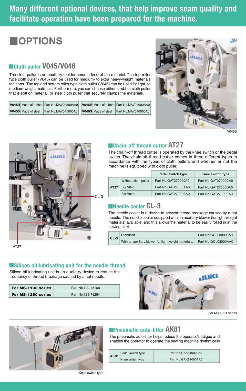 Ms 1190 Series 2 Needle 1261 3 Pdf Parts Heating Element As Well Singer Sewing Machine Diagram The Top And Bottom Roller Type Cloth Puller V046 Can Be Used For Light