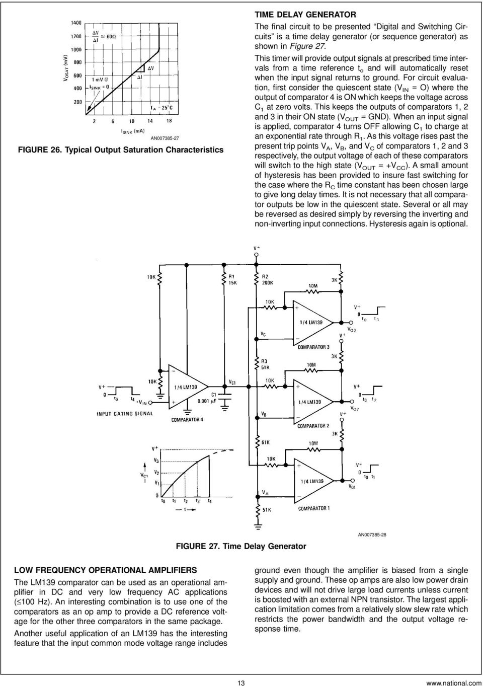 Lm139 Lm239 Lm339 A Quad Of Independently Functioning Comparators Pdf Adding Hysteresis To Comparator Circuit Basiccircuit This Timer Will Provide Output Signals At Prescribed Time Intervals From Reference T O And