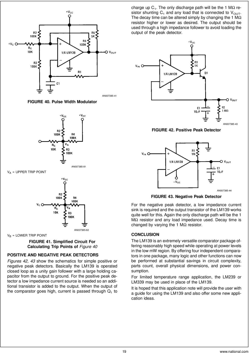 Lm139 Lm239 Lm339 A Quad Of Independently Functioning Comparators Pdf The Circuit Schematic For Voltage Comparator Output Should Be Used Through High Impedance Follower To Avoid Loading