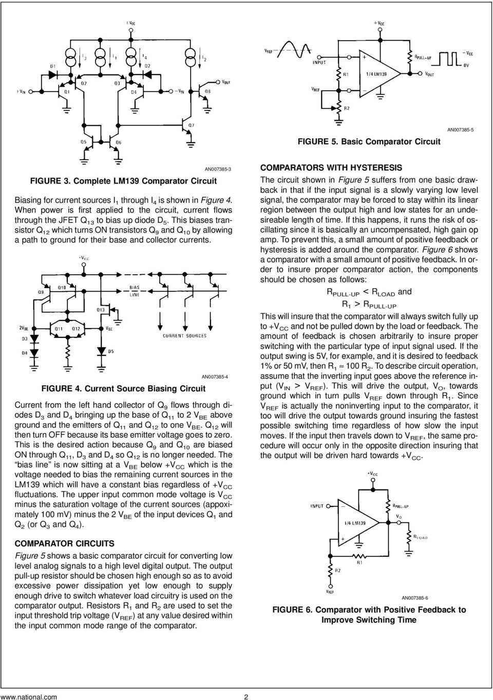 Lm139 Lm239 Lm339 A Quad Of Independently Functioning Comparators Pdf Circuit Used In Experiment The Diode Is 1n914 Silicon This Biases Transistor Q 12 Which Turns On Transistors 9 And 10 By Allowing