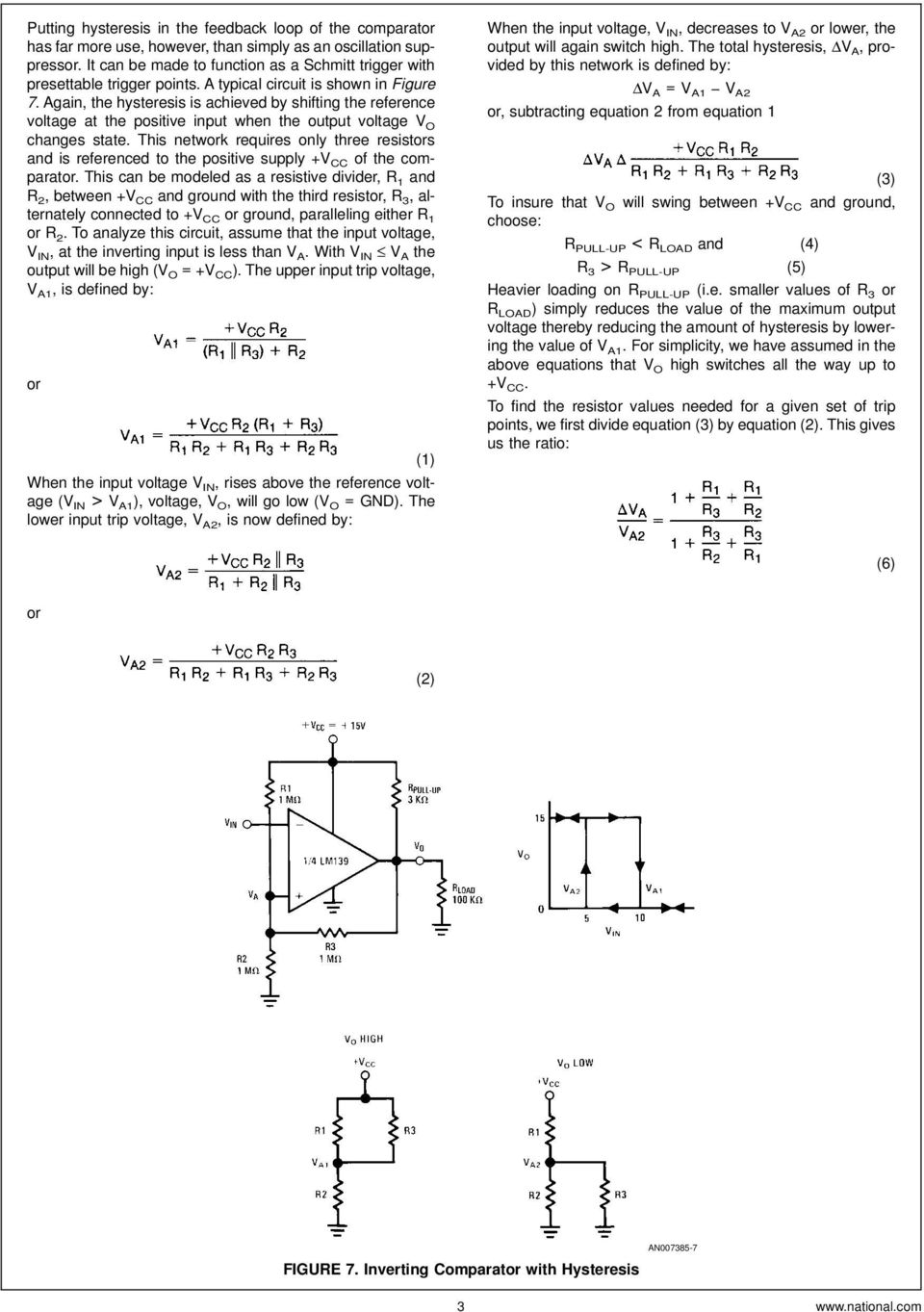 Lm139 Lm239 Lm339 A Quad Of Independently Functioning Comparators Pdf Treble Boost Up Using Lm741 Circuit Wiring Diagrams Again The Hysteresis Is Achieved By Shifting Reference Voltage At Positive Input When