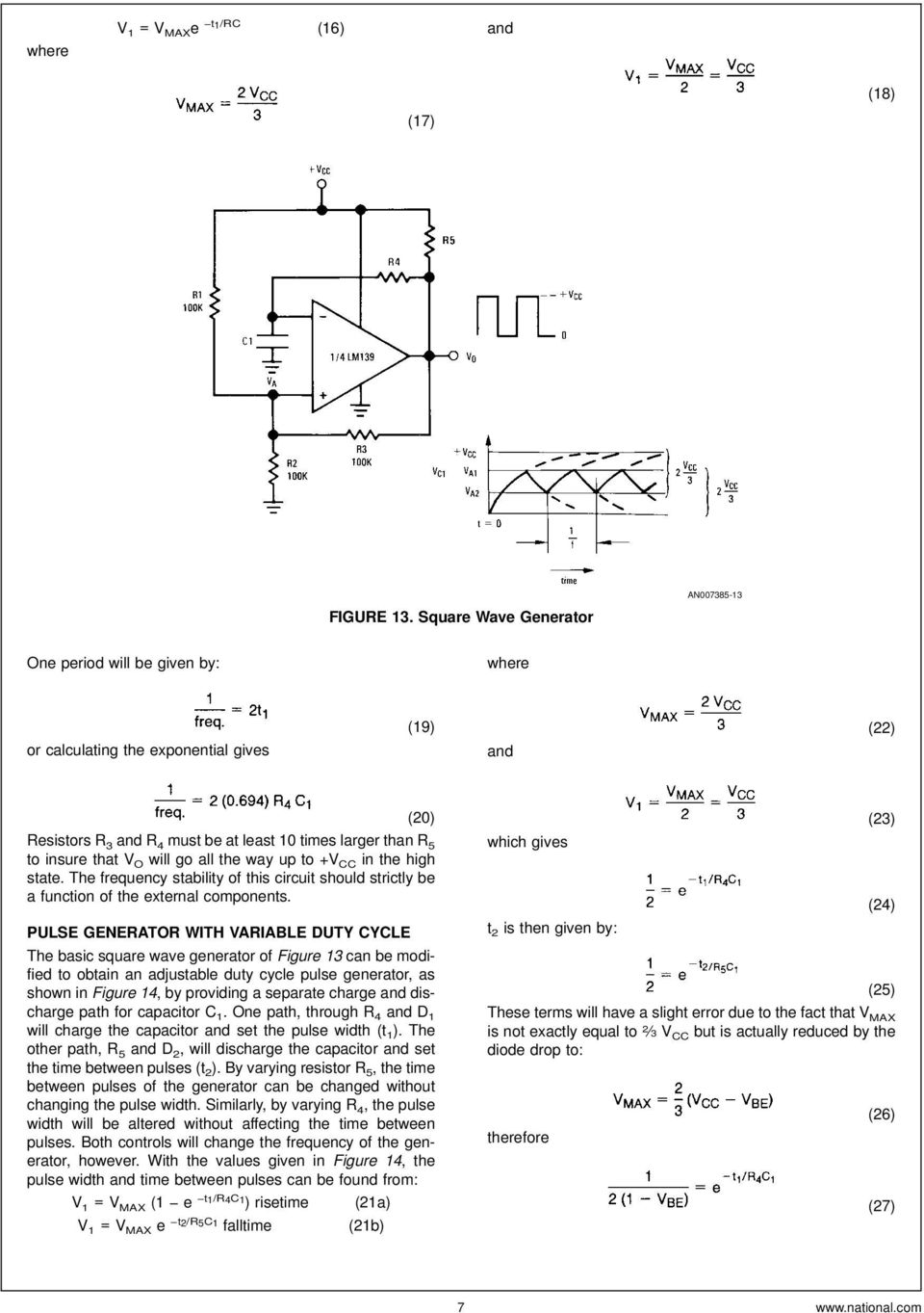 Lm139 Lm239 Lm339 A Quad Of Independently Functioning Comparators Pdf Circuit Used In Experiment The Diode Is 1n914 Silicon That V O Will Go All Way Up To Cc High State
