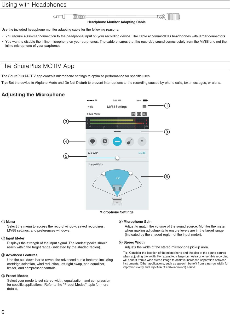 MV88 USER GUIDE  ios MID-SIDE STEREO CONDENSER MICROPHONE - PDF