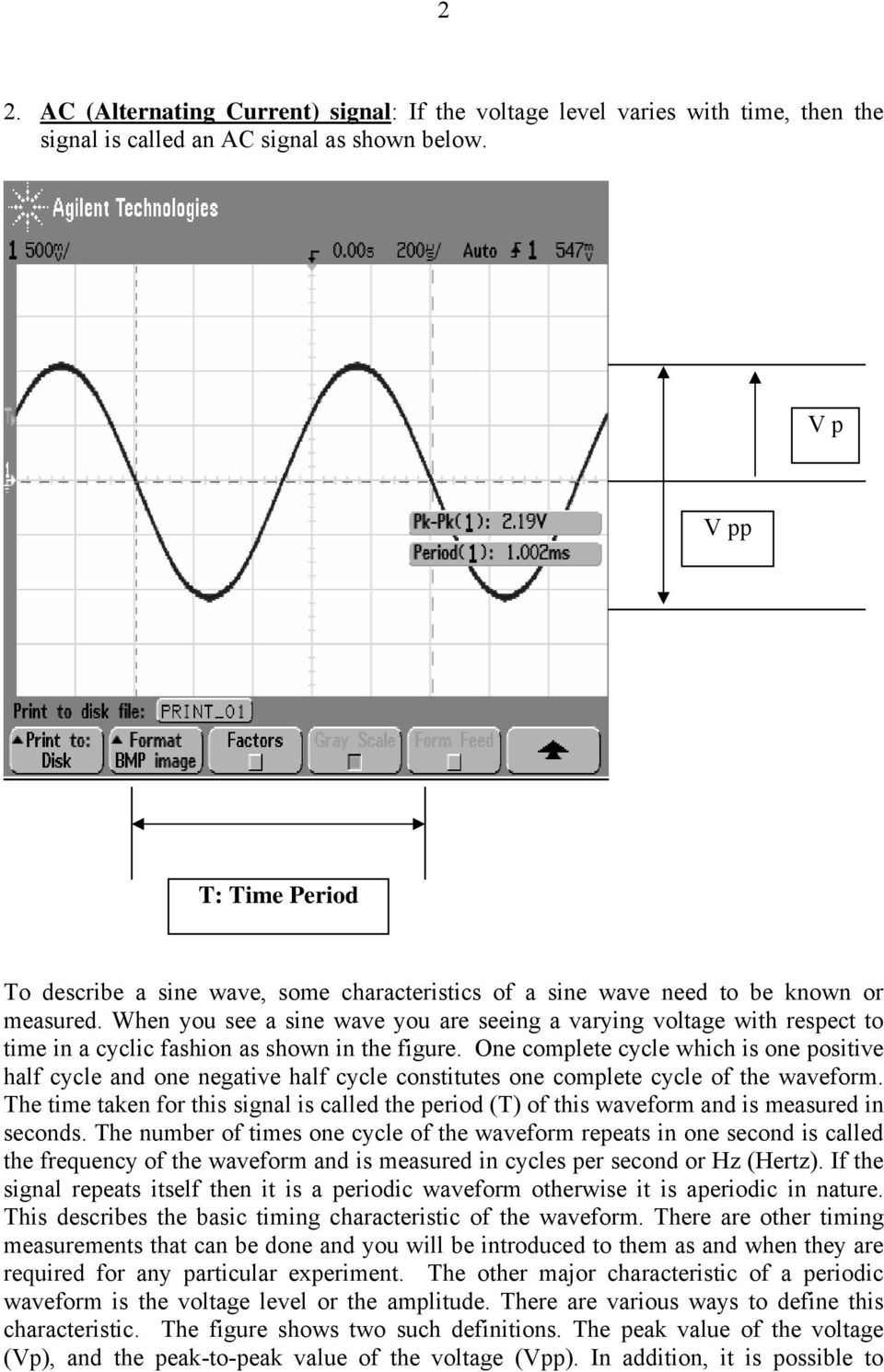 Experiment Number 5 Basic Oscilloscope Operations Pdf Simpledccircuit When You See A Sine Wave Are Seeing Varying Voltage With Respect To Time