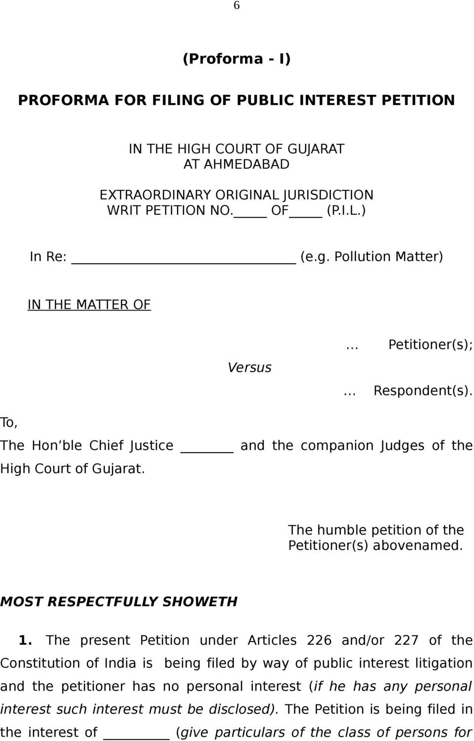 NOTIFICATION BY THE HIGH COURT OF GUJARAT AT AHMEDABAD (For