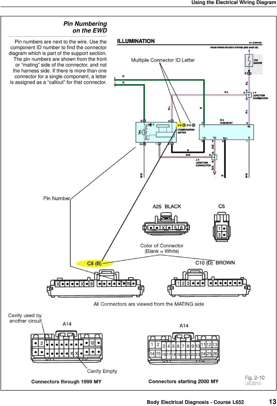 Using The Electrical Wiring Diagram Pdf Single Line Further One Pin Numbers Are Shown From Front Or Mating Side Of Connector And