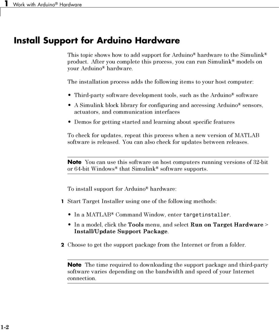 Work with Arduino Hardware - PDF