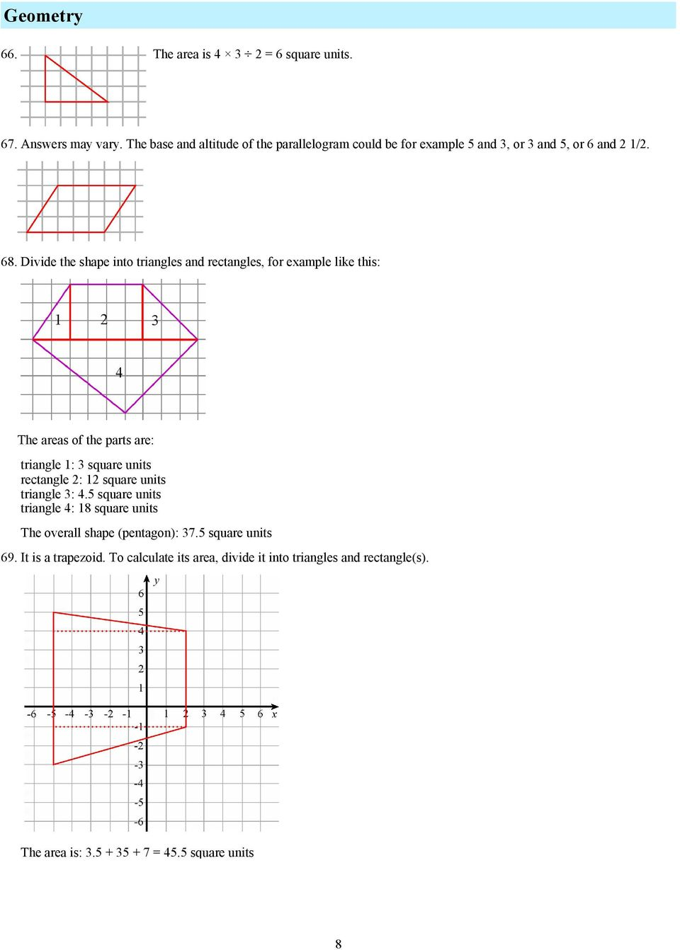 Math mammoth end of the year test grade 6 answer key pdf divide the shape into triangles and rectangles for example like this the areas of fandeluxe Gallery