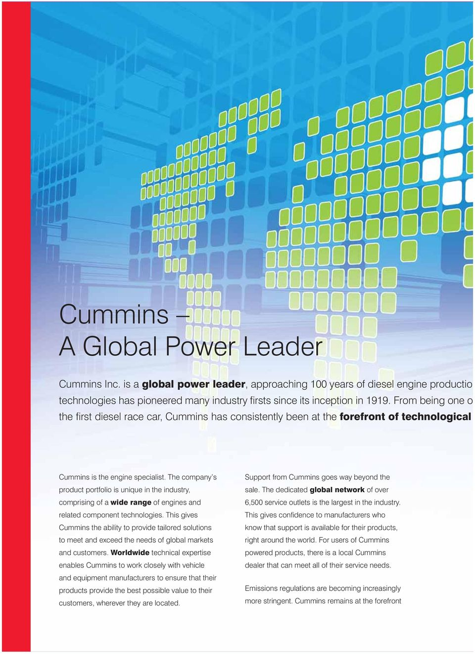 This is Cummins  A Global Power Leader - PDF
