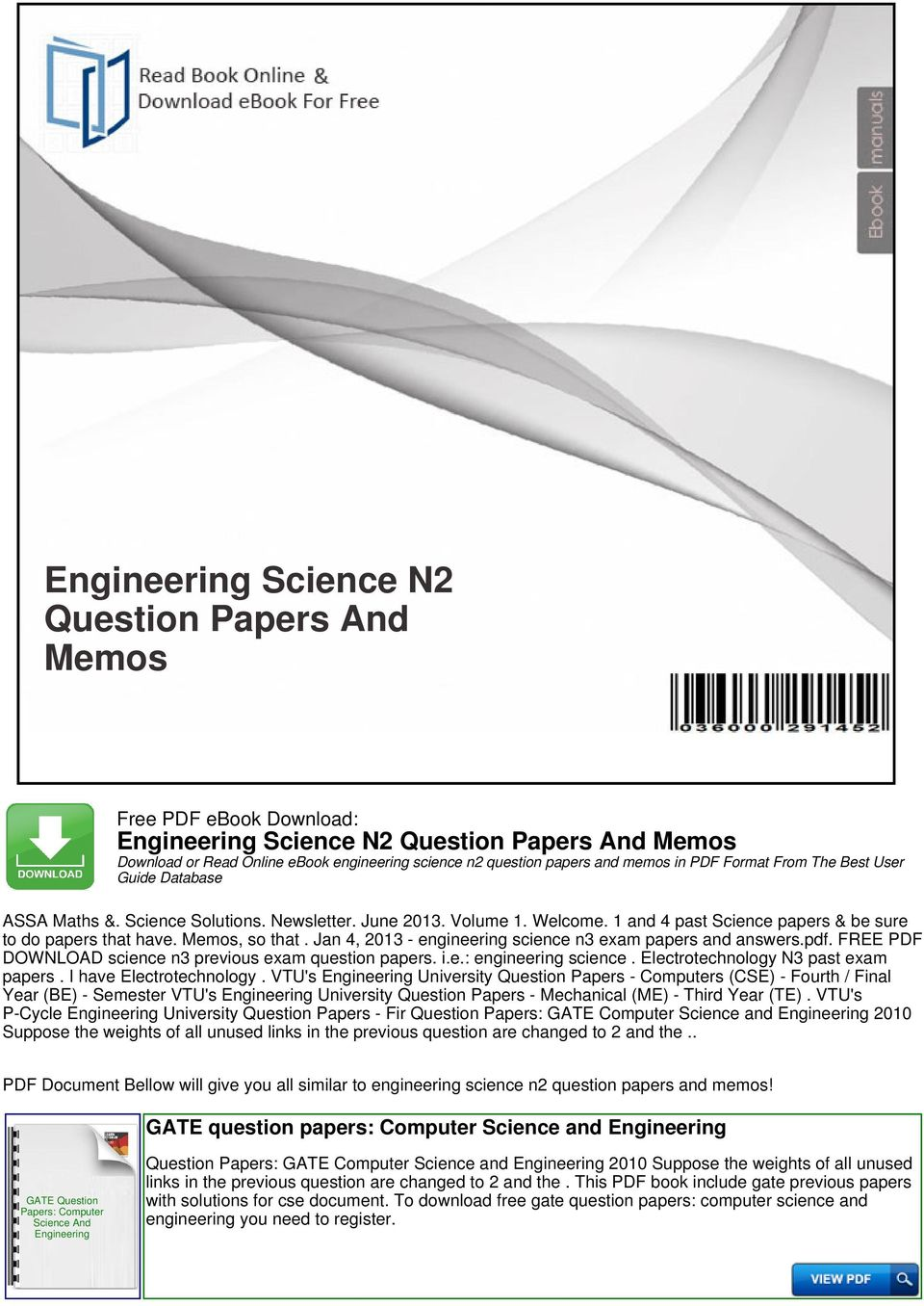 engineering science n2 question papers and memos pdf