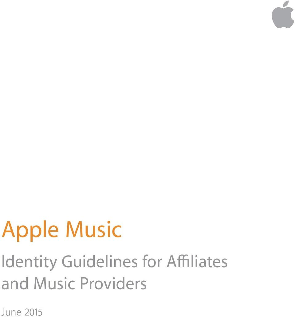 Apple Music  Identity Guidelines for Affiliates and Music