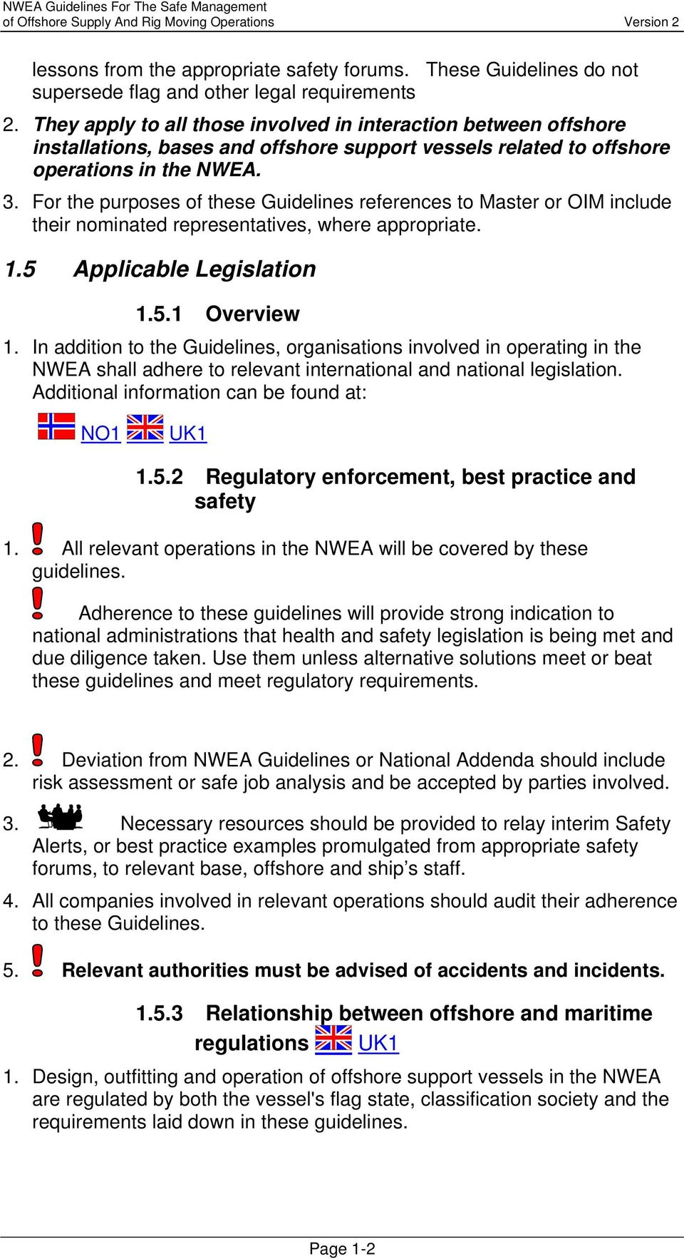 NWEA Guidelines for the Safe Management of Offshore Supply