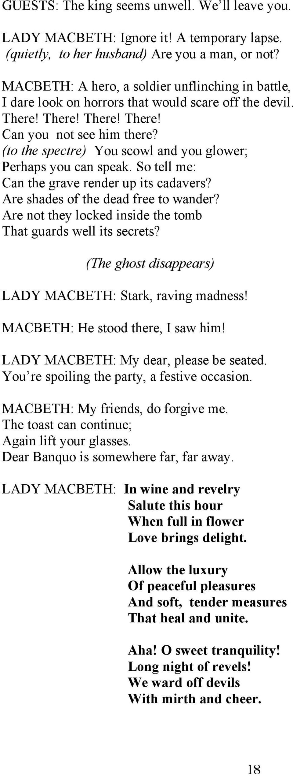 VERDI MACBETH  English Version by Donald Pippin (with considerable