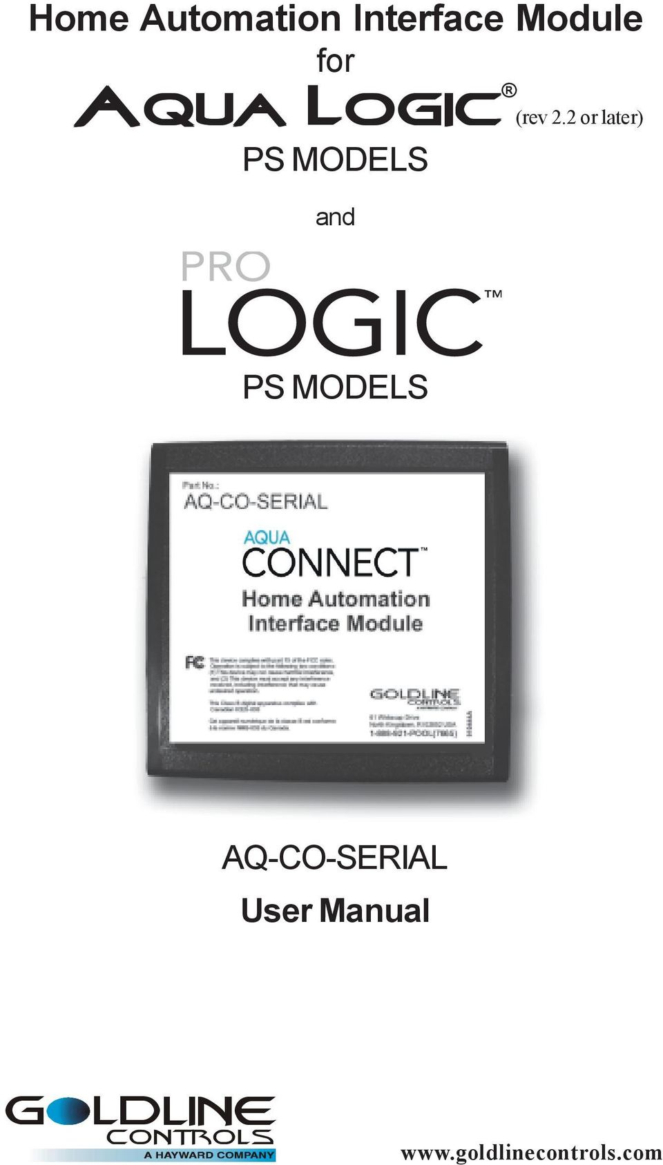 2 or later) PS MODELS AQ-CO-SERIAL User