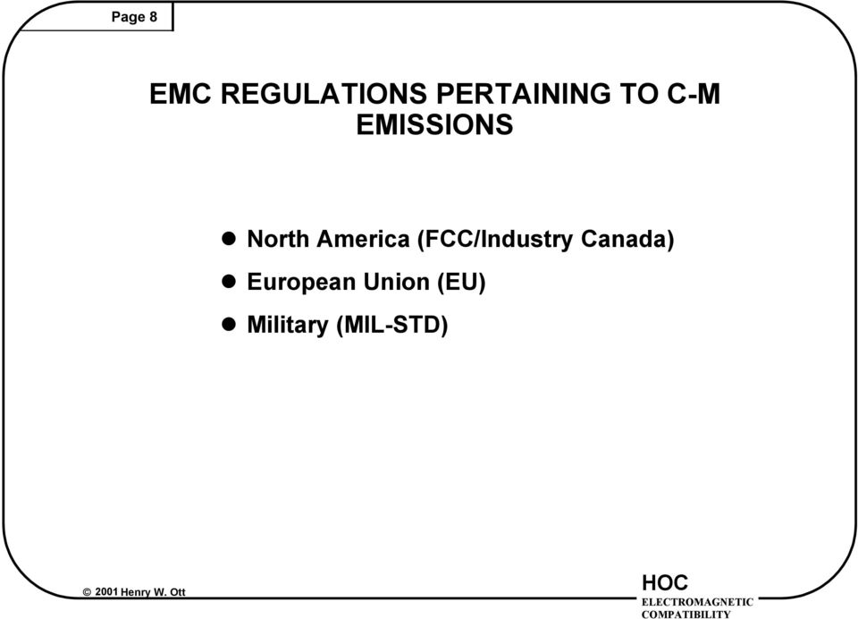 North America (FCC/Industry