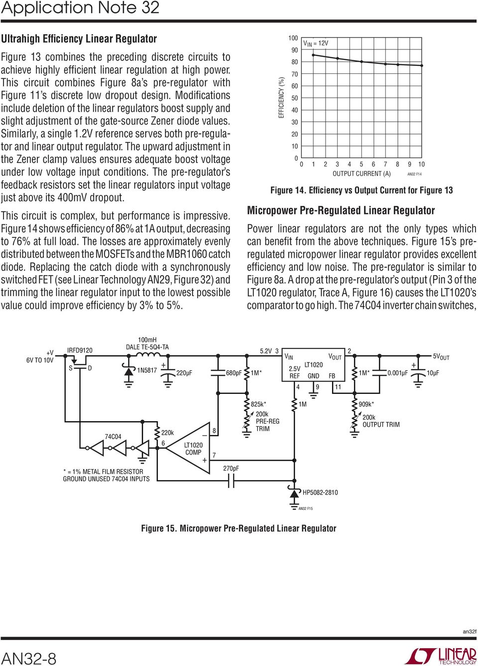 Application Note 32 March High Effi Ciency Linear Regulators An32 1 Circuit Schematic Electronics Voltage Regulator With Lt1086 Modifications Include Deletion Of The Boost Supply And Slight Adjustment Gate