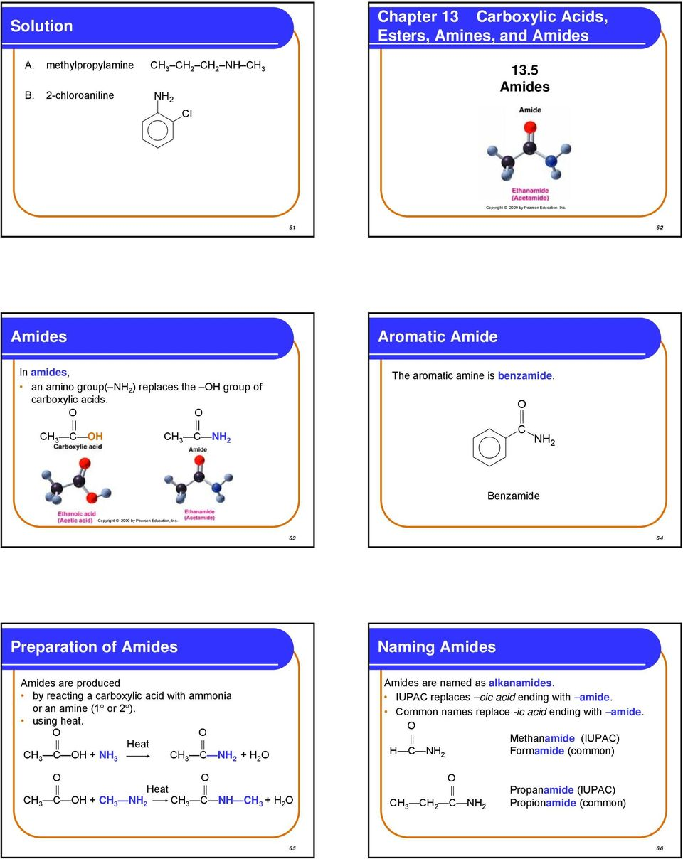 What is an amide vs amine