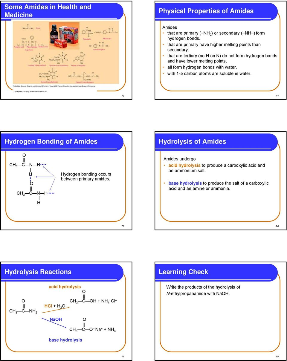 Chapter 13 Carboxylic Acids, Esters, Amines, and Amides  Carboxylic