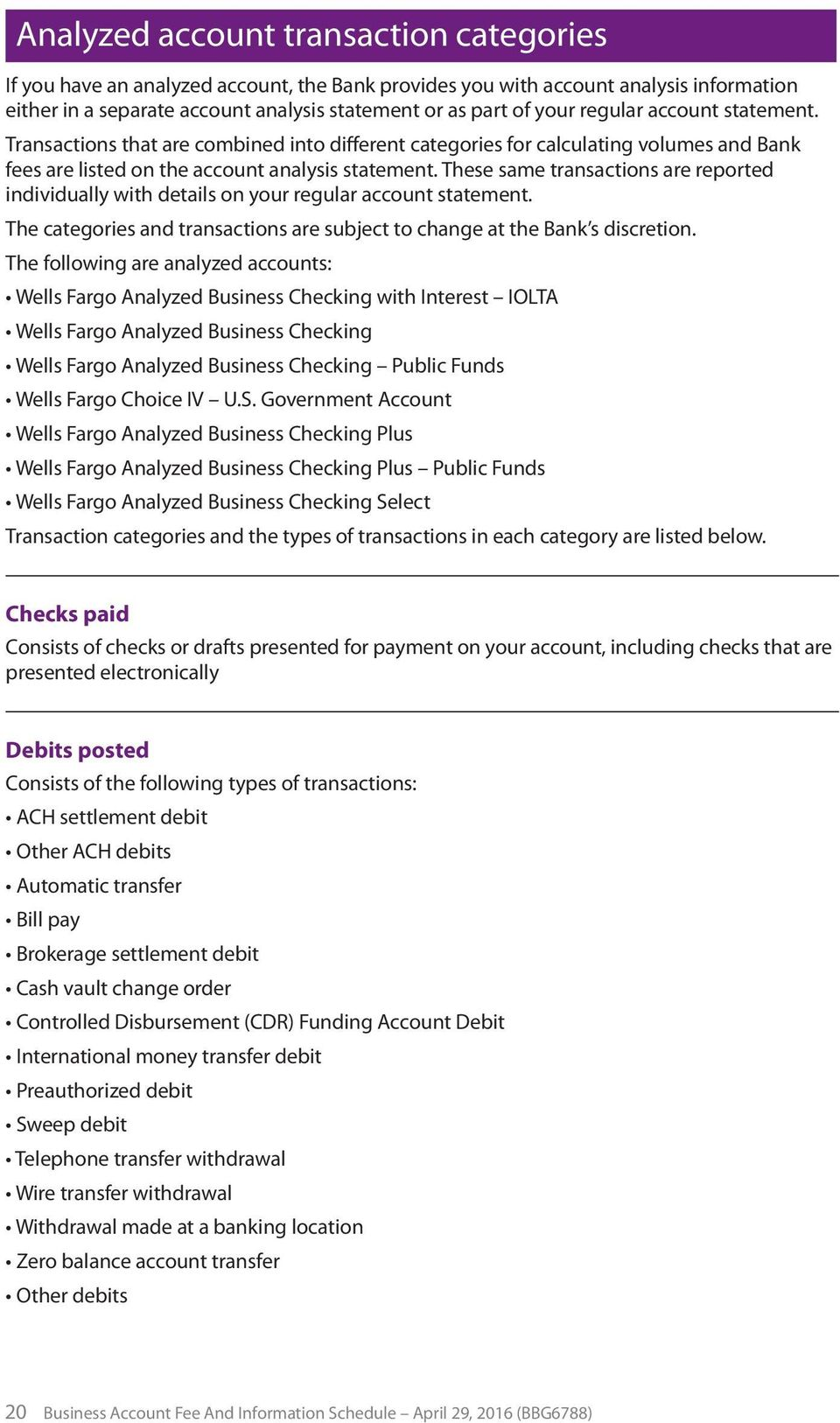 These Same Transactions Are Reported Individually With Details On Your Regular Account Statement The Categories