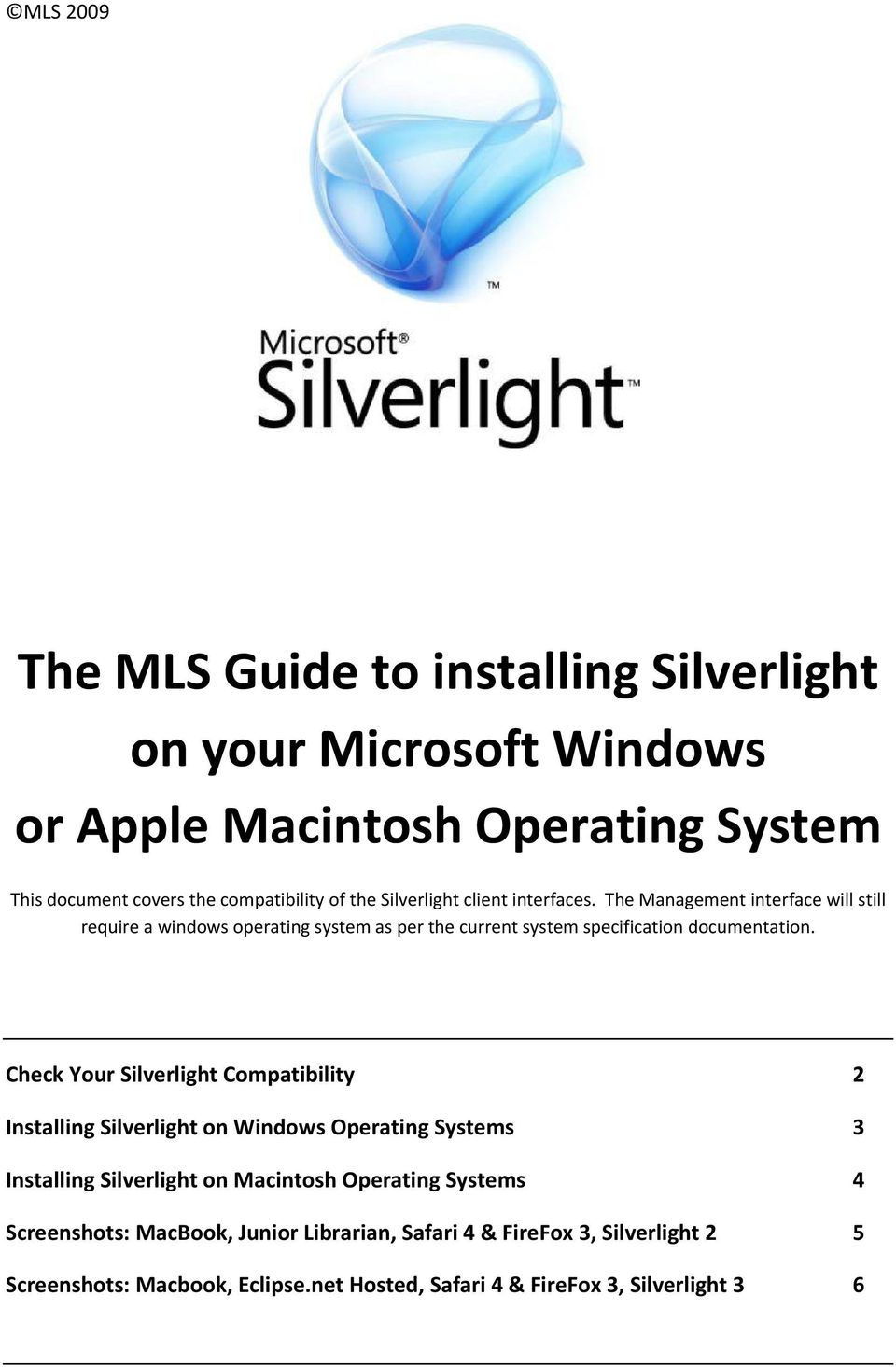The MLS Guide to installing Silverlight on your Microsoft