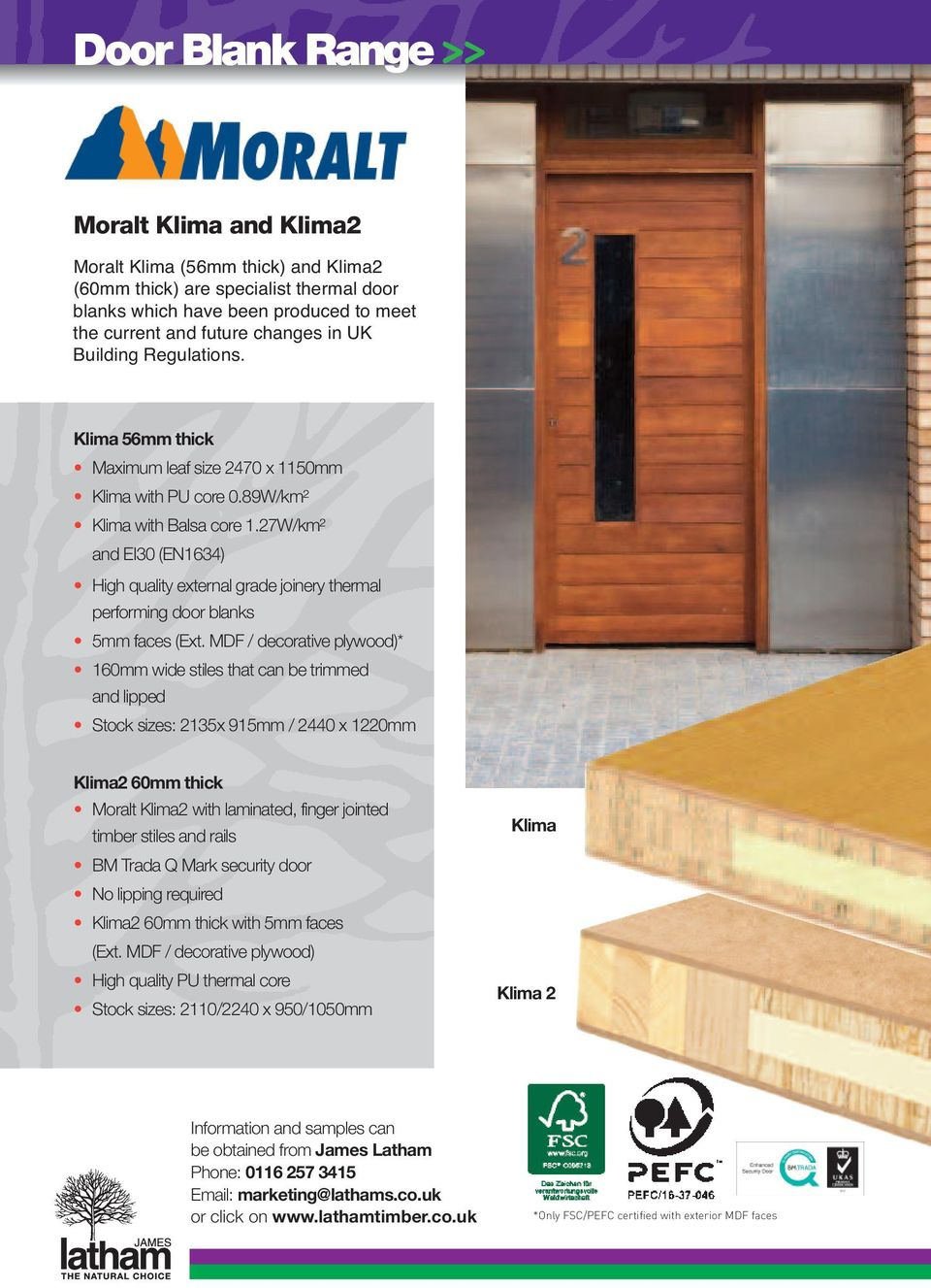 Door Blank Range Dimensionally Stable And Eliminate Core Gaps