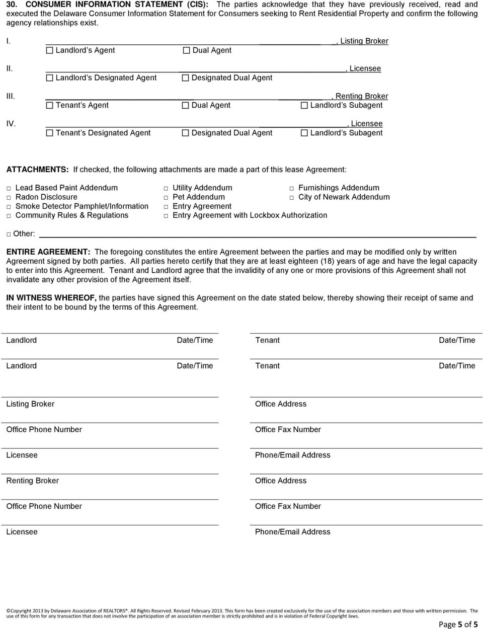 Residential Lease Rental Agreement This Is A Legally Binding