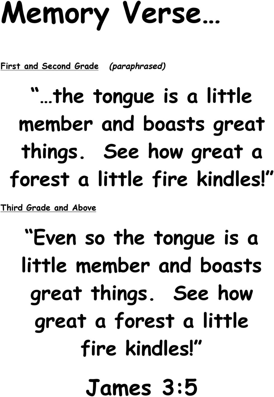 See how great a forest a little fire kindles!