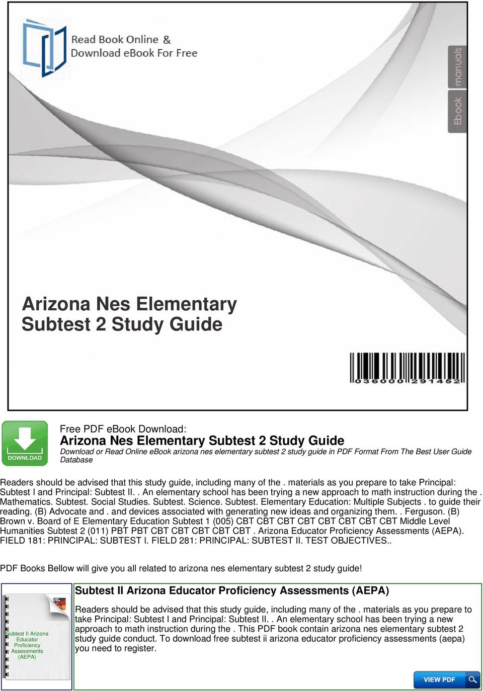 Praxis 5203 study material ebook science study guide array arizona nes elementary subtest 2 study guide pdf rh docplayer net fandeluxe Choice Image