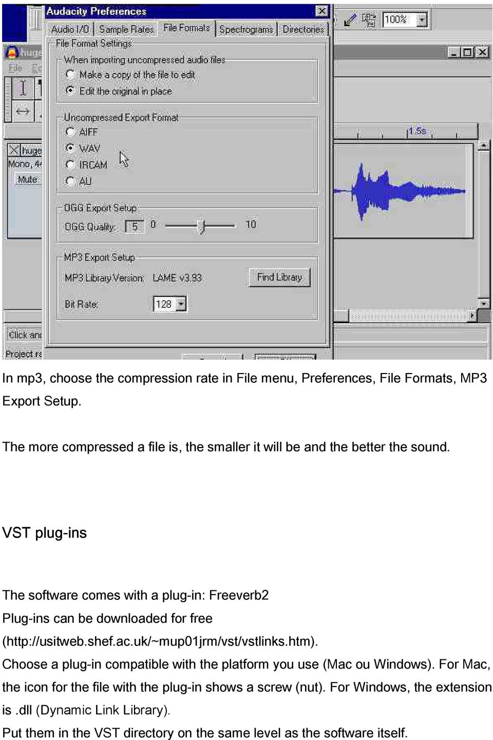 Detailed user guide for Audacity - PDF