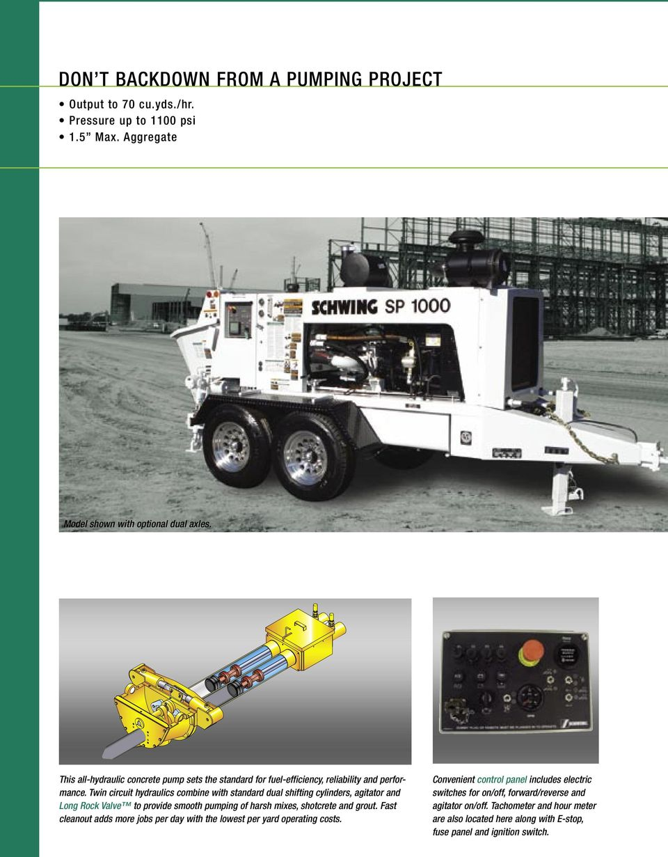 SP / SP / SP Trailer Mounted Concrete Pumps - PDF