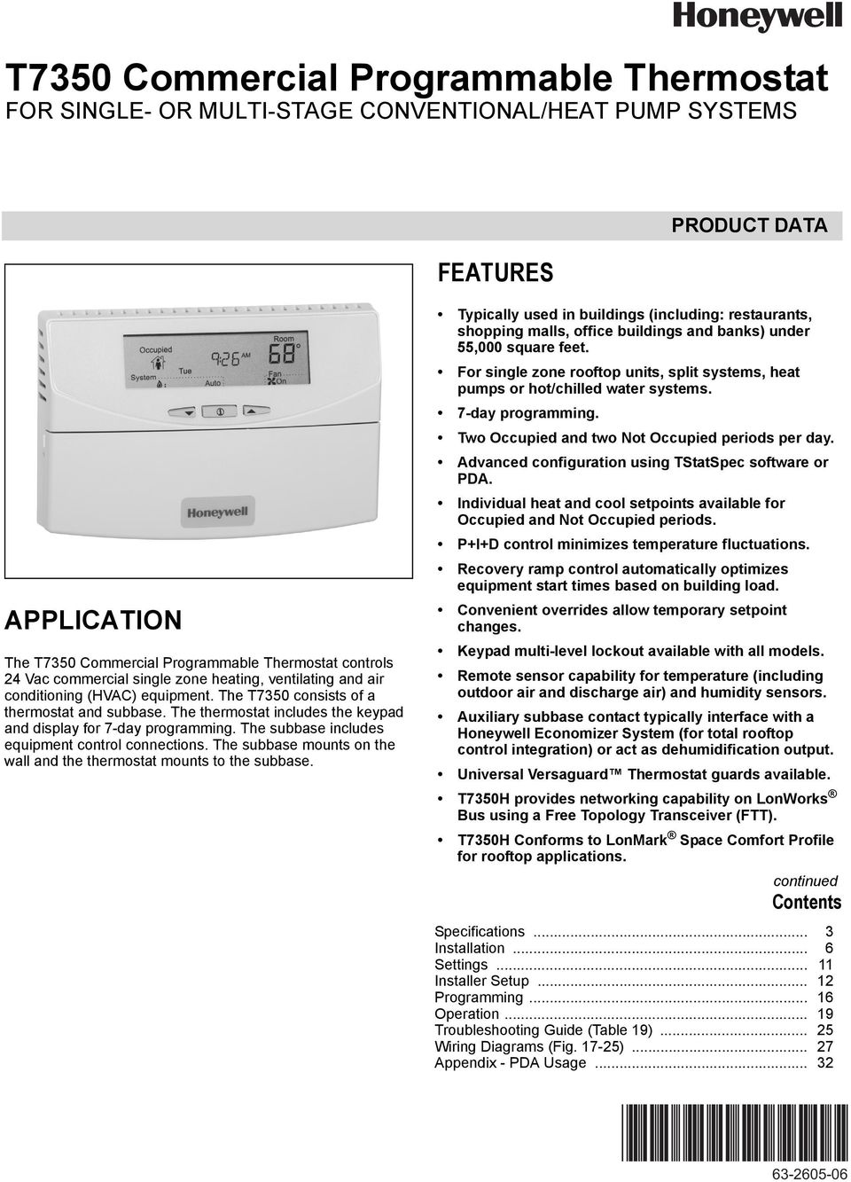 Honeywell T7350 Wiring Diagram Block And Schematic Diagrams Heat Pump Thermostat Manual Commercial Programmable For Single Or Multi Stage Rh Docplayer Net Control