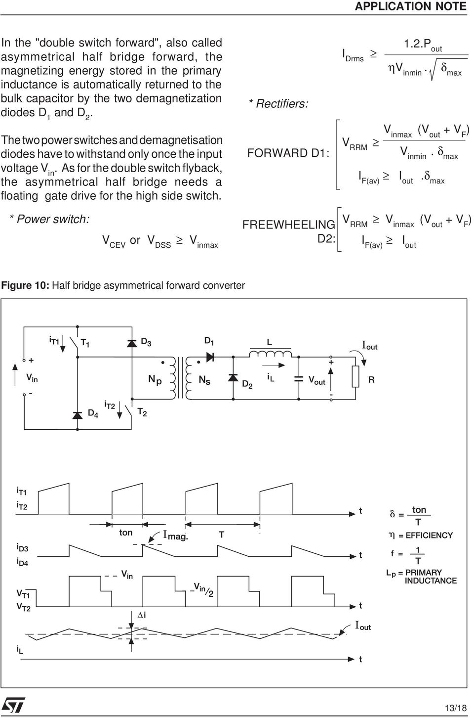 Topologies For Switched Mode Power Supplies Pdf How Can Protect Mosfet Switch In Flyback As The Double Asymmetrical Half Bridge Needs A Floating Gate Drive