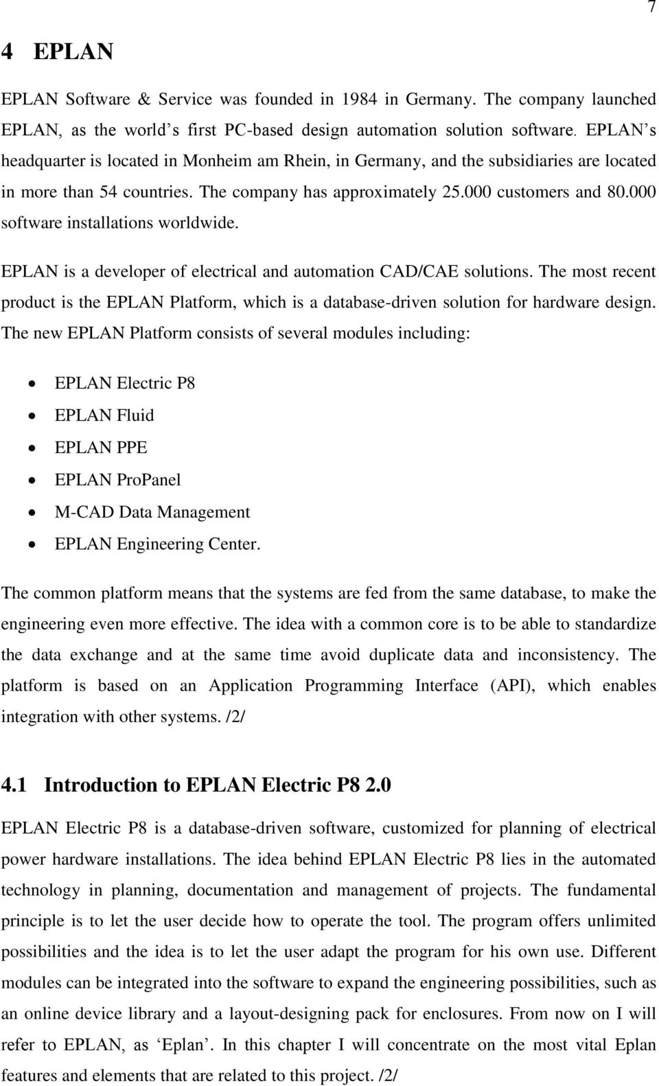 EPLAN Electric P8 parts database and pilot project - PDF