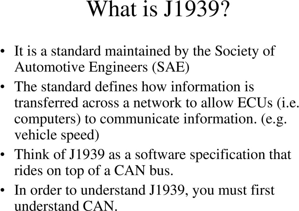 Understanding SAE J1939  by Simma Software, Inc  - PDF