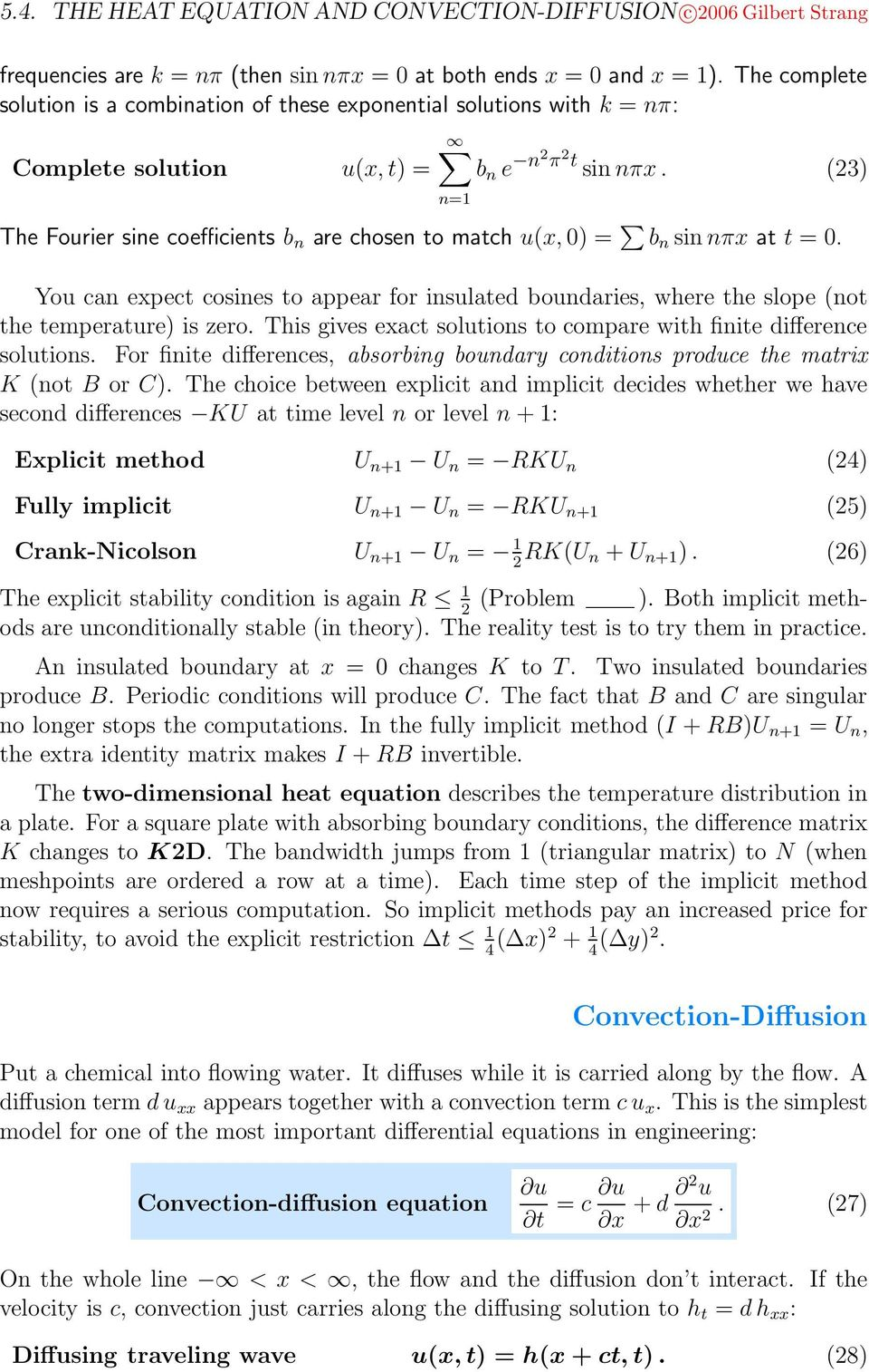 5 4 The Heat Equation and Convection-Diffusion - PDF