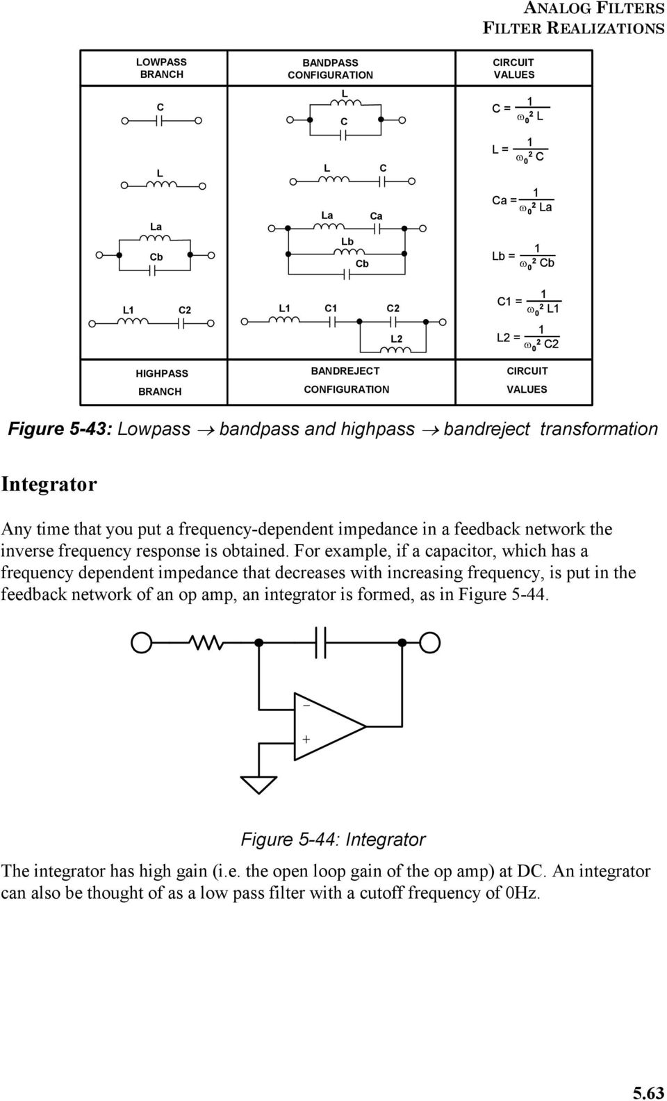 Section 5 Frequency Transformations Pdf How To Build Notch Filter Circuit Diagram Feedback Network The Inverse Response Is Obtained