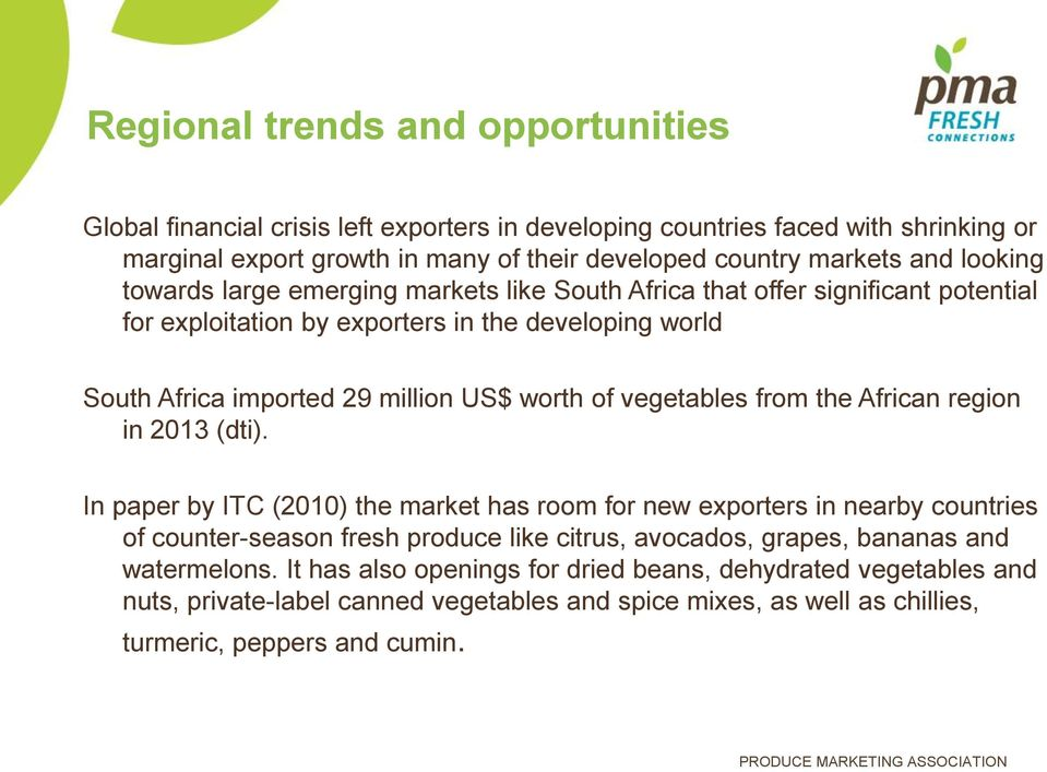 TRENDS IN SOUTH AFRICA VEGETABLE IMPORTS - PDF