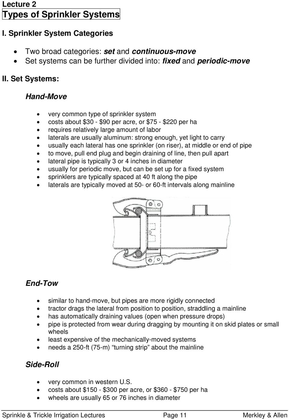 Sprinkle & Trickle Irrigation Lecture Notes - PDF