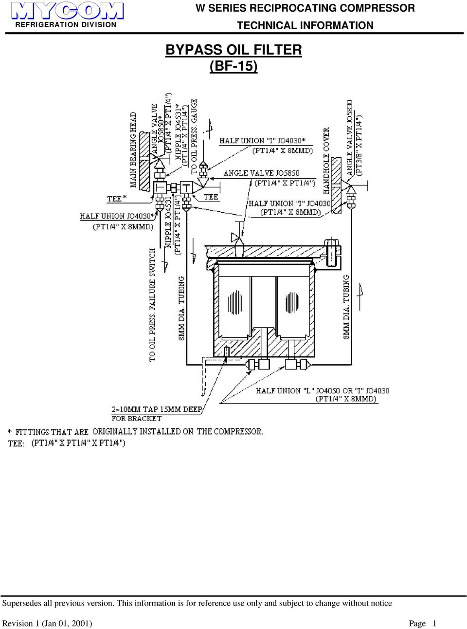 W SERIES RECIPROCATING COMPRESSOR TECHNICAL INFORMATION 12WB, 124WB