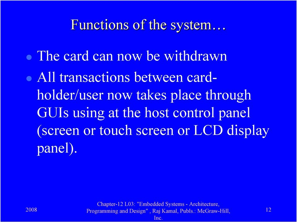 Lesson 3 Case Study Of An Embedded System For Smart Card Pdf Free Download