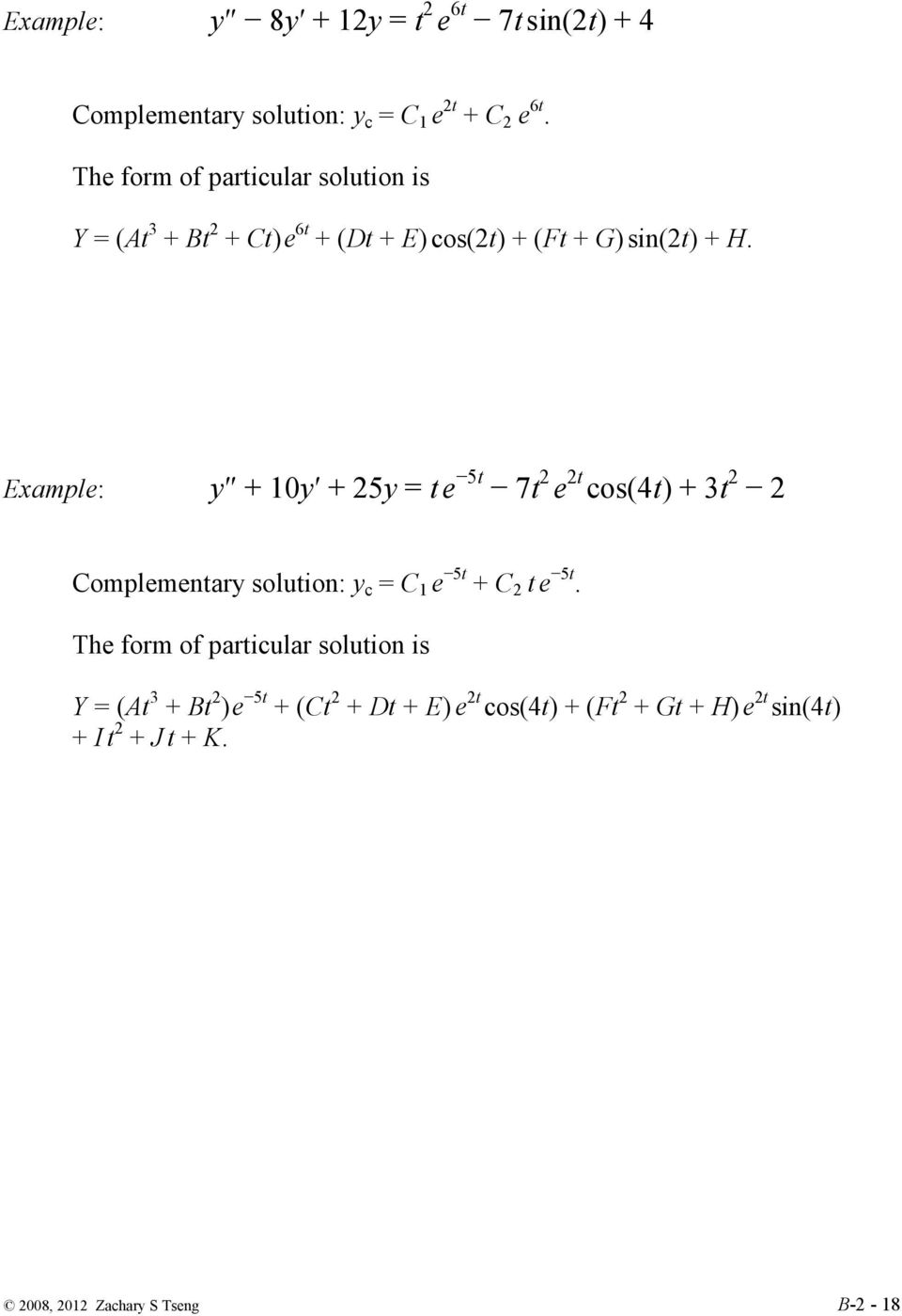 Second Order Linear Nonhomogeneous Differential Equations