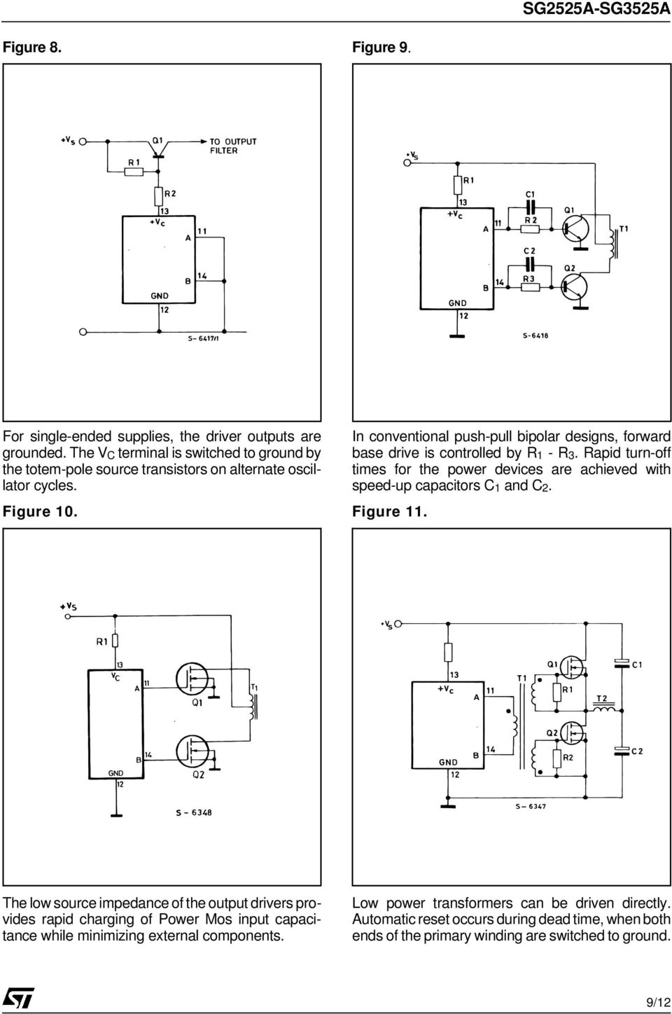 Sg2525a Sg3525a Regulating Pulse Width Modulators Pdf Very Simple Lead Acid Battery Charger With Pb137 Regulator In Conventional Push Pull Bipolar Designs Forward Base Drive Is Controlled By R1